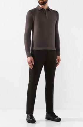 Мужские кожаные кеды ALDO BRUE черного цвета, арт. AB5035H-VPN   Фото 2