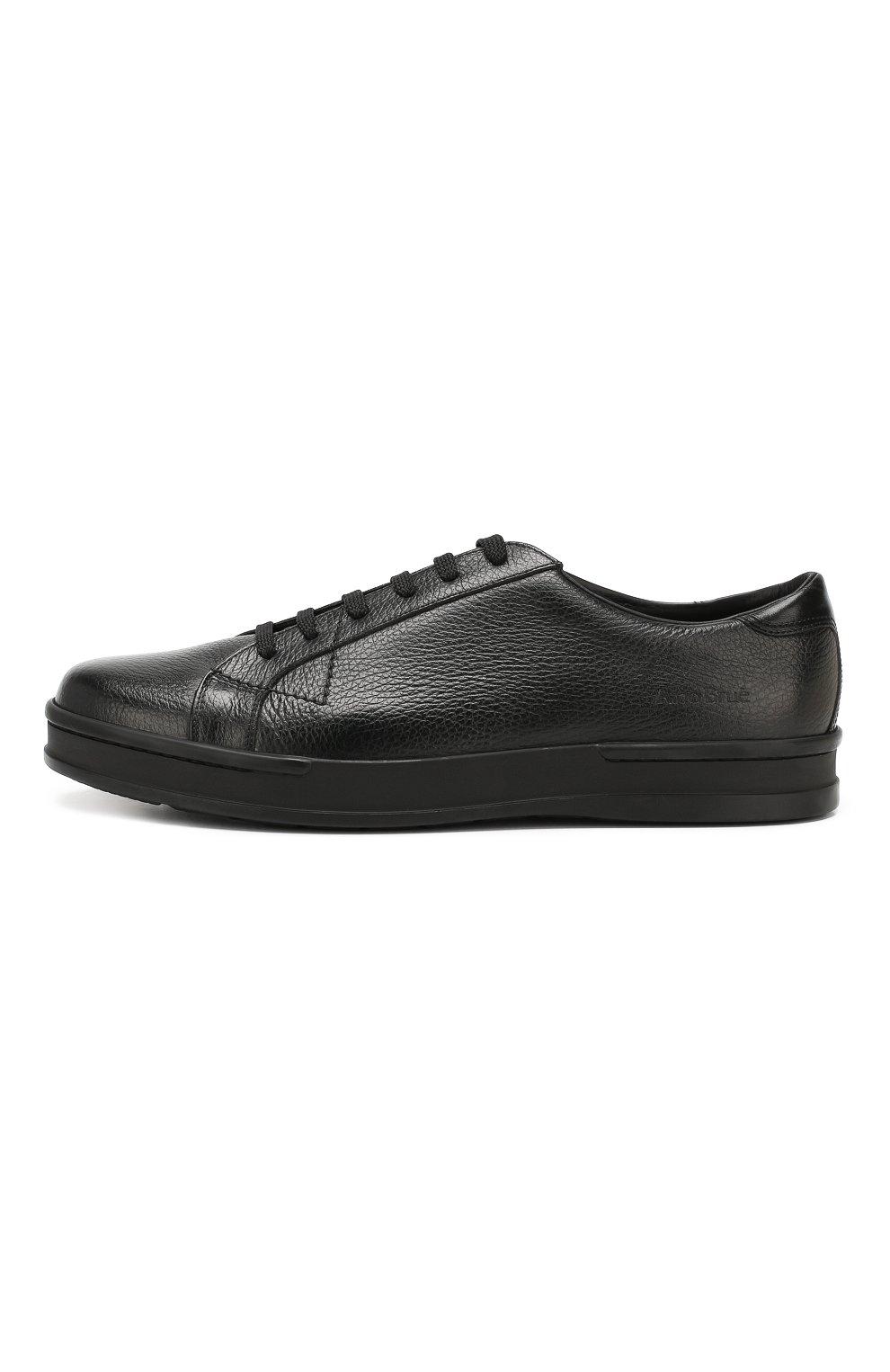 Мужские кожаные кеды ALDO BRUE черного цвета, арт. AB5035H-VPN   Фото 3