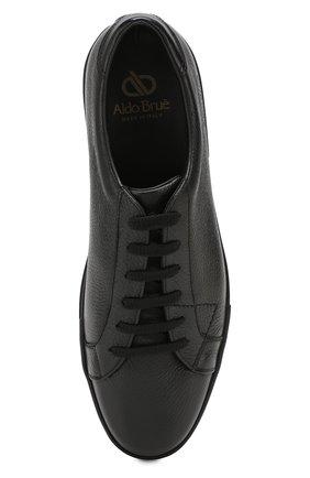 Мужские кожаные кеды ALDO BRUE черного цвета, арт. AB5035H-VPN   Фото 5