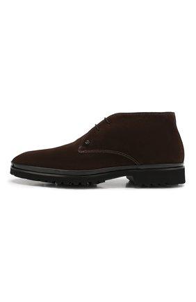 Мужские замшевые ботинки ALDO BRUE темно-коричневого цвета, арт. AB8514H-SA | Фото 3