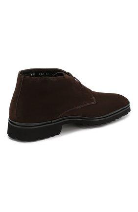 Мужские замшевые ботинки ALDO BRUE темно-коричневого цвета, арт. AB8514H-SA | Фото 4