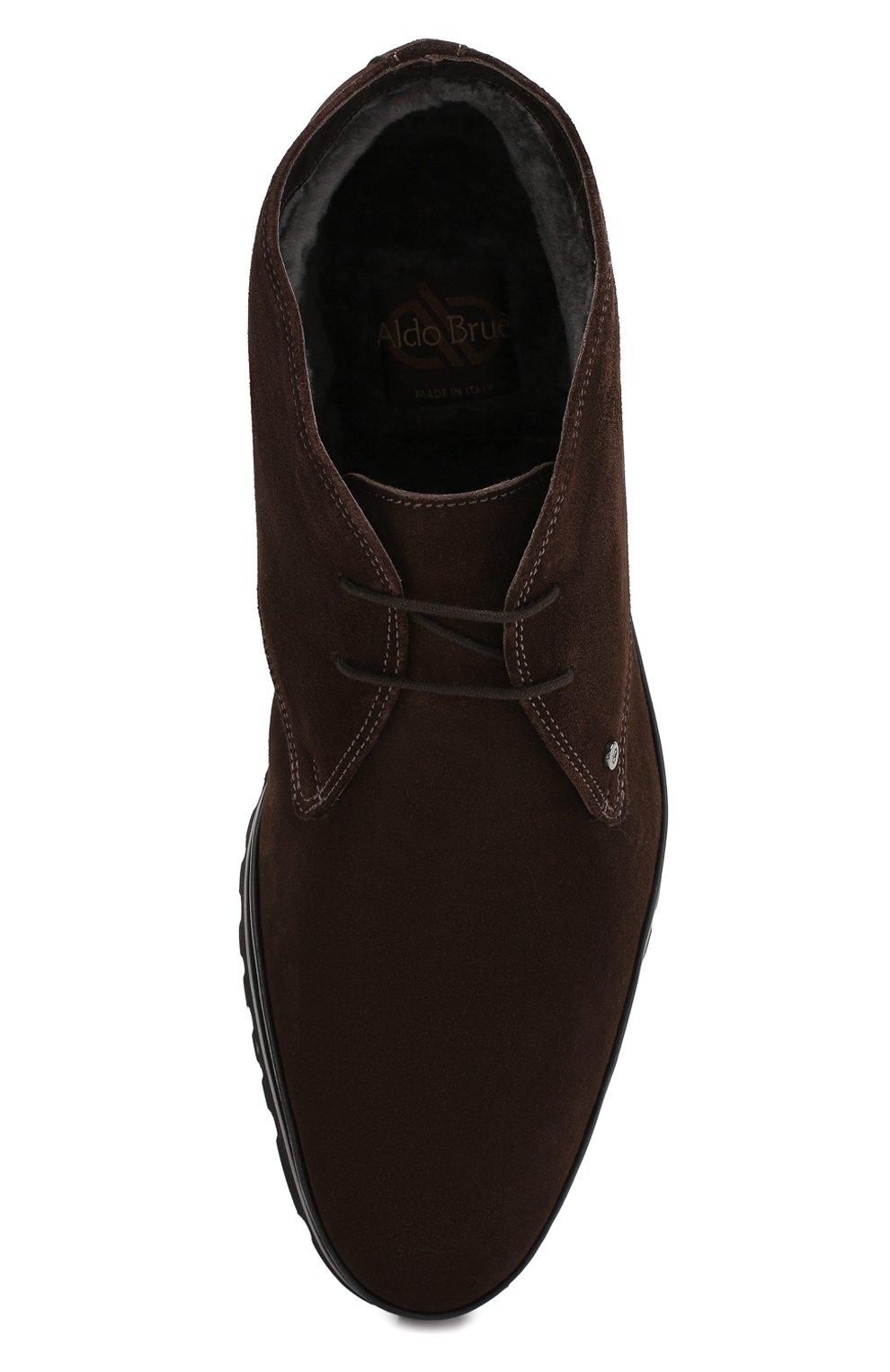 Мужские замшевые ботинки ALDO BRUE темно-коричневого цвета, арт. AB8514H-SA | Фото 5