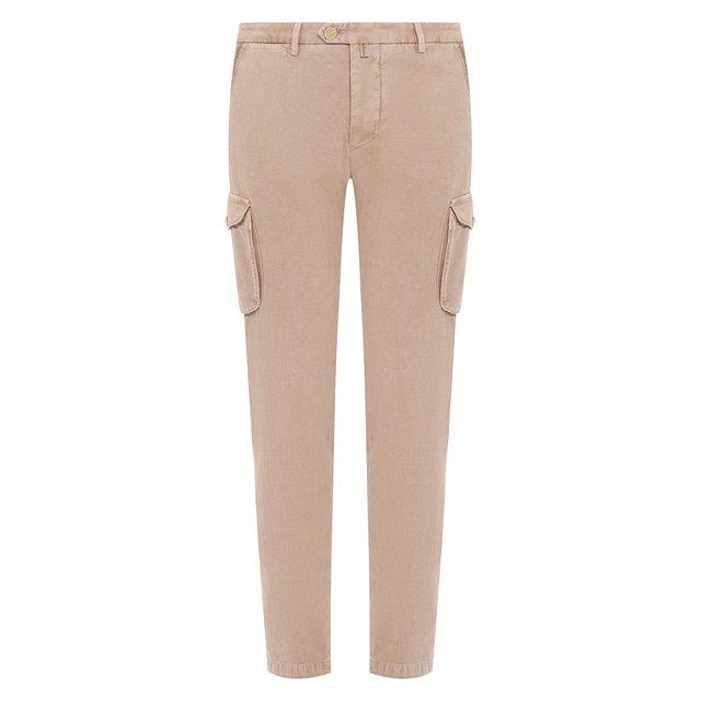 Хлопковые брюки-карго Kiton — Хлопковые брюки-карго
