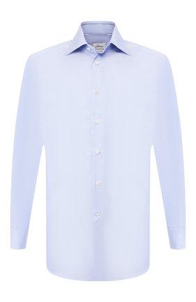 Мужская хлопковая сорочка BRIONI голубого цвета, арт. RCLU16/0804L | Фото 1