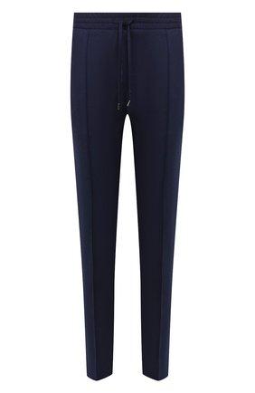 Мужской брюки из смеси шерсти и кашемира BRIONI темно-синего цвета, арт. RPM10L/08AB3/SIDNEY   Фото 1