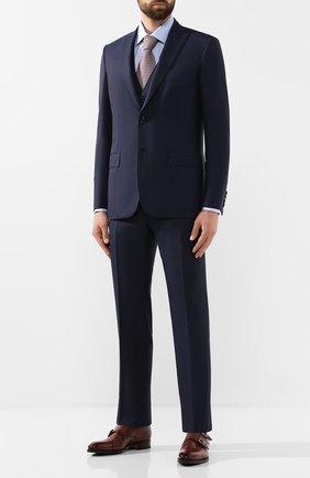 Мужской шерстяной костюм-тройка BRIONI темно-синего цвета, арт. RS0X0L/08A33/BRACCIAN0/G | Фото 1