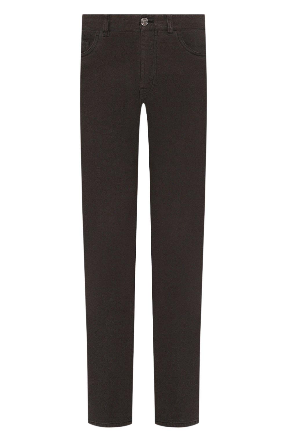 Мужские джинсы BRIONI темно-зеленого цвета, арт. SPNJ0M/08T01/STELVI0   Фото 1