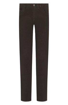 Мужские джинсы BRIONI темно-зеленого цвета, арт. SPNJ0M/08T01/STELVI0 | Фото 1