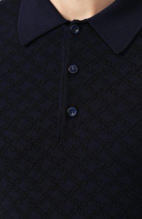 Мужское шерстяное поло BRIONI синего цвета, арт. UMR30L/08K20   Фото 5