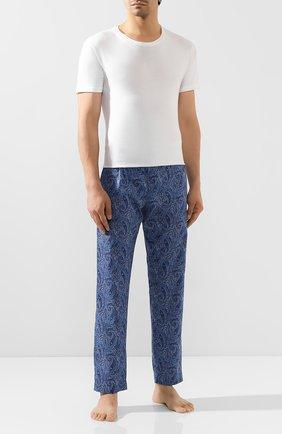 Мужские хлопковые брюки ROBERTO RICETTI синего цвета, арт. PANTAPA/0R02313 | Фото 2