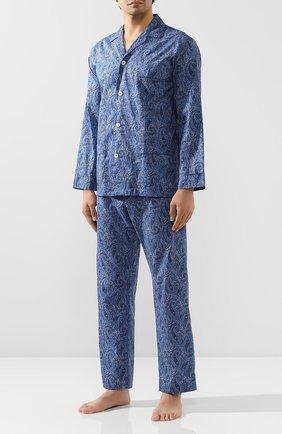Мужская хлопковая пижама ROBERTO RICETTI синего цвета, арт. VENEZIA/0R02313 | Фото 1