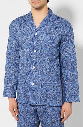 Мужская хлопковая пижама ROBERTO RICETTI синего цвета, арт. VENEZIA/0R02313 | Фото 2