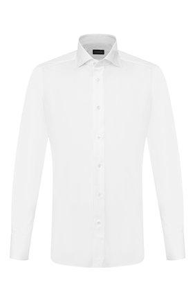 Мужская хлопковая сорочка ERMENEGILDO ZEGNA белого цвета, арт. 604010/9MS0BA | Фото 1