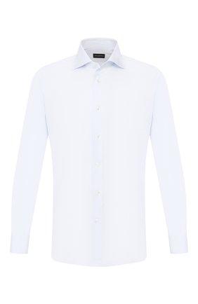 Мужская хлопковая сорочка ERMENEGILDO ZEGNA светло-голубого цвета, арт. 604011/9MS0BA | Фото 1