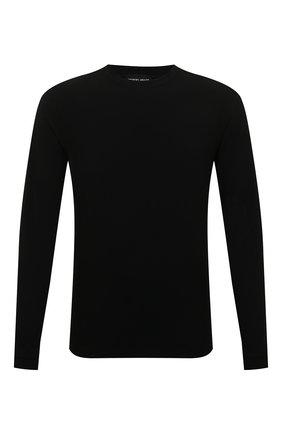 Мужская лонгслив из вискозы GIORGIO ARMANI черного цвета, арт. 3GST51/SJP4Z | Фото 1