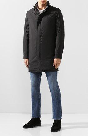 Мужская парка ANDREA CAMPAGNA черного цвета, арт. 10501H9NW5010 | Фото 2 (Статус проверки: Проверена категория; Материал внешний: Синтетический материал; Рукава: Длинные; Материал подклада: Синтетический материал; Длина (верхняя одежда): До середины бедра; Мужское Кросс-КТ: Верхняя одежда; Кросс-КТ: Куртка)