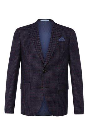 Мужской шерстяной пиджак SAND темно-синего цвета, арт. 6188 STAR NAP0LI | Фото 1