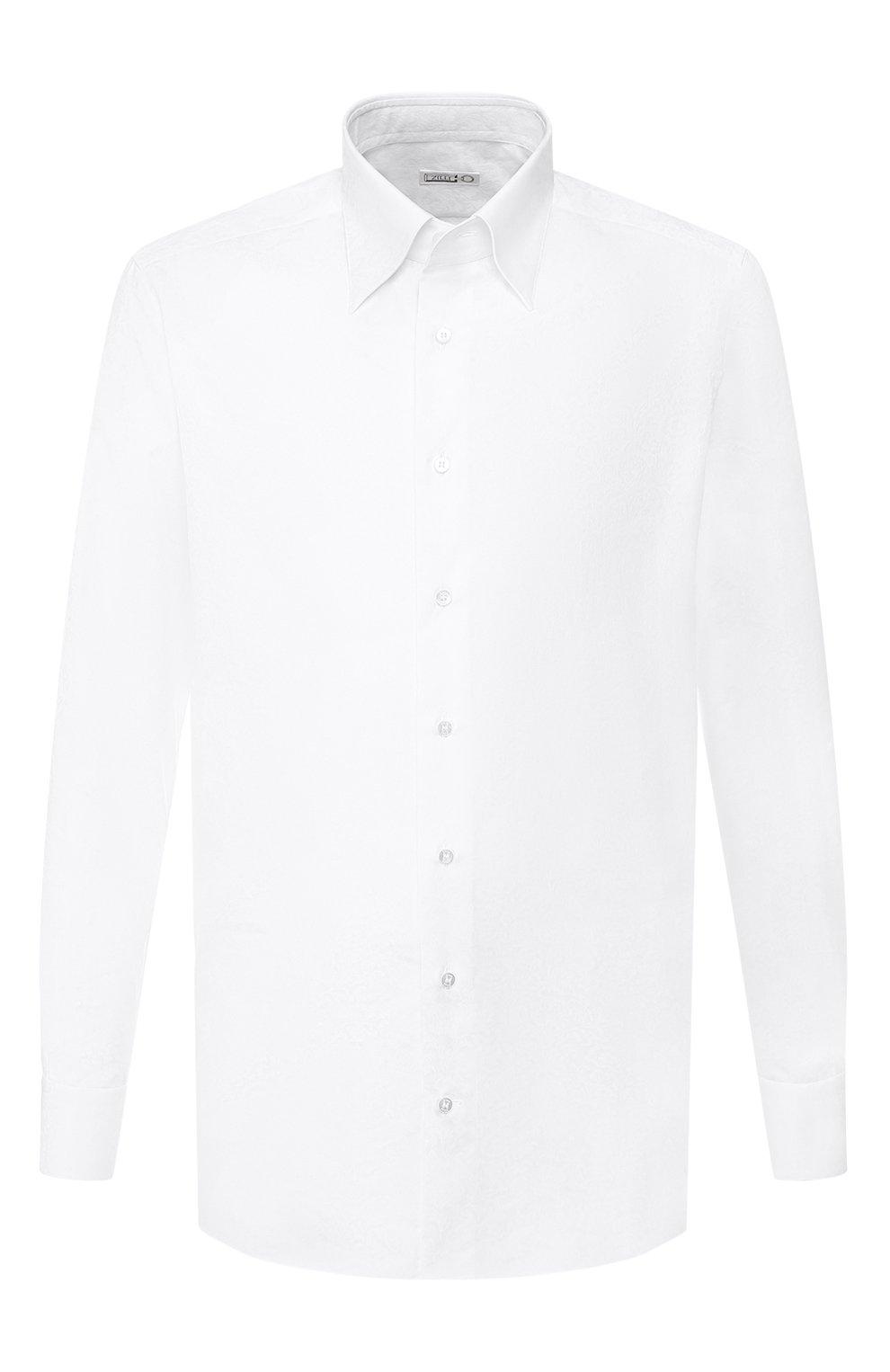 Мужская хлопковая сорочка ZILLI белого цвета, арт. MFS-MERCU-04211/RZ01 | Фото 1