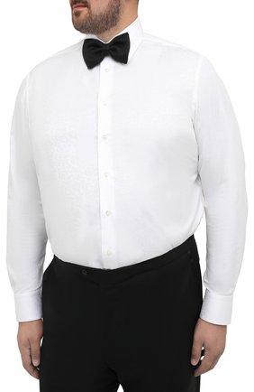 Мужская хлопковая сорочка ZILLI белого цвета, арт. MFS-MERCU-04211/RZ01 | Фото 4