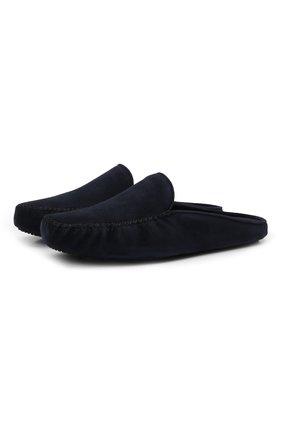 Мужского замшевые домашние туфли HOMERS AT HOME темно-синего цвета, арт. 12511F/ANTE | Фото 1