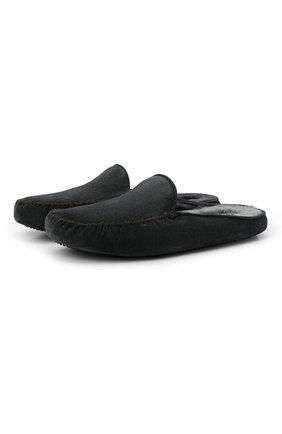 Мужского замшевые домашние туфли HOMERS AT HOME темно-серого цвета, арт. 19372/CR0STA | Фото 1