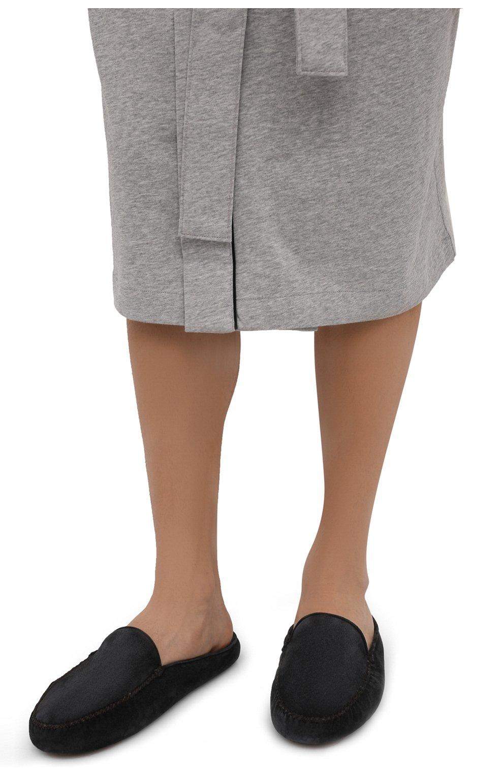 Мужского замшевые домашние туфли HOMERS AT HOME темно-серого цвета, арт. 19372/CR0STA | Фото 3