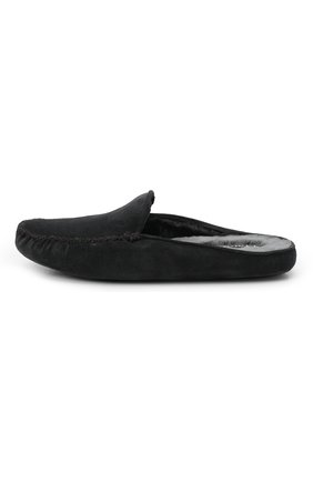 Мужского замшевые домашние туфли HOMERS AT HOME темно-серого цвета, арт. 19372/CR0STA | Фото 4