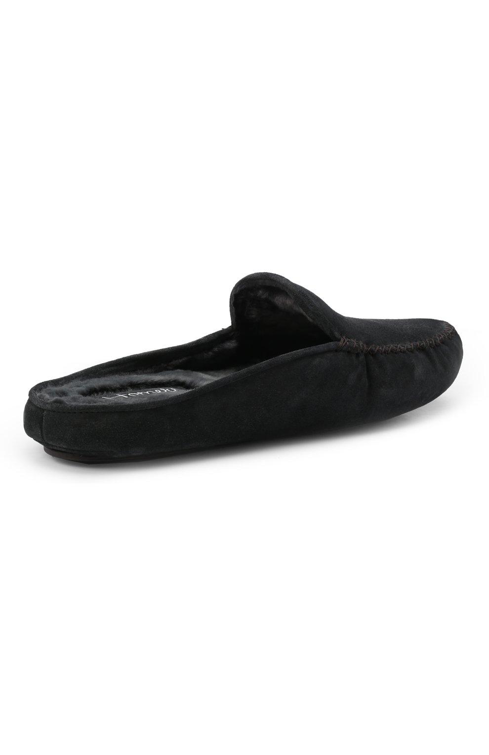 Мужского замшевые домашние туфли HOMERS AT HOME темно-серого цвета, арт. 19372/CR0STA | Фото 5