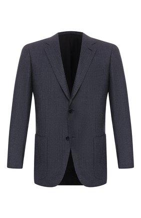 Мужской шерстяной пиджак BRIONI синего цвета, арт. RGH00P/08A3T/PARLAMENT0 | Фото 1