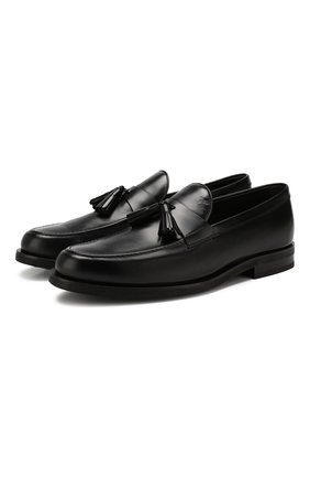 Мужские кожаные лоферы TOD'S черного цвета, арт. XXM0ZF0AB90LYG | Фото 1