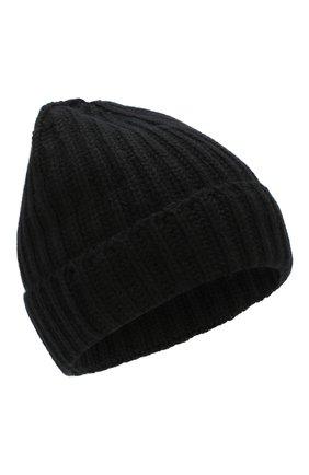 Мужская кашемировая шапка GRAN SASSO черного цвета, арт. 10162/15552 | Фото 1