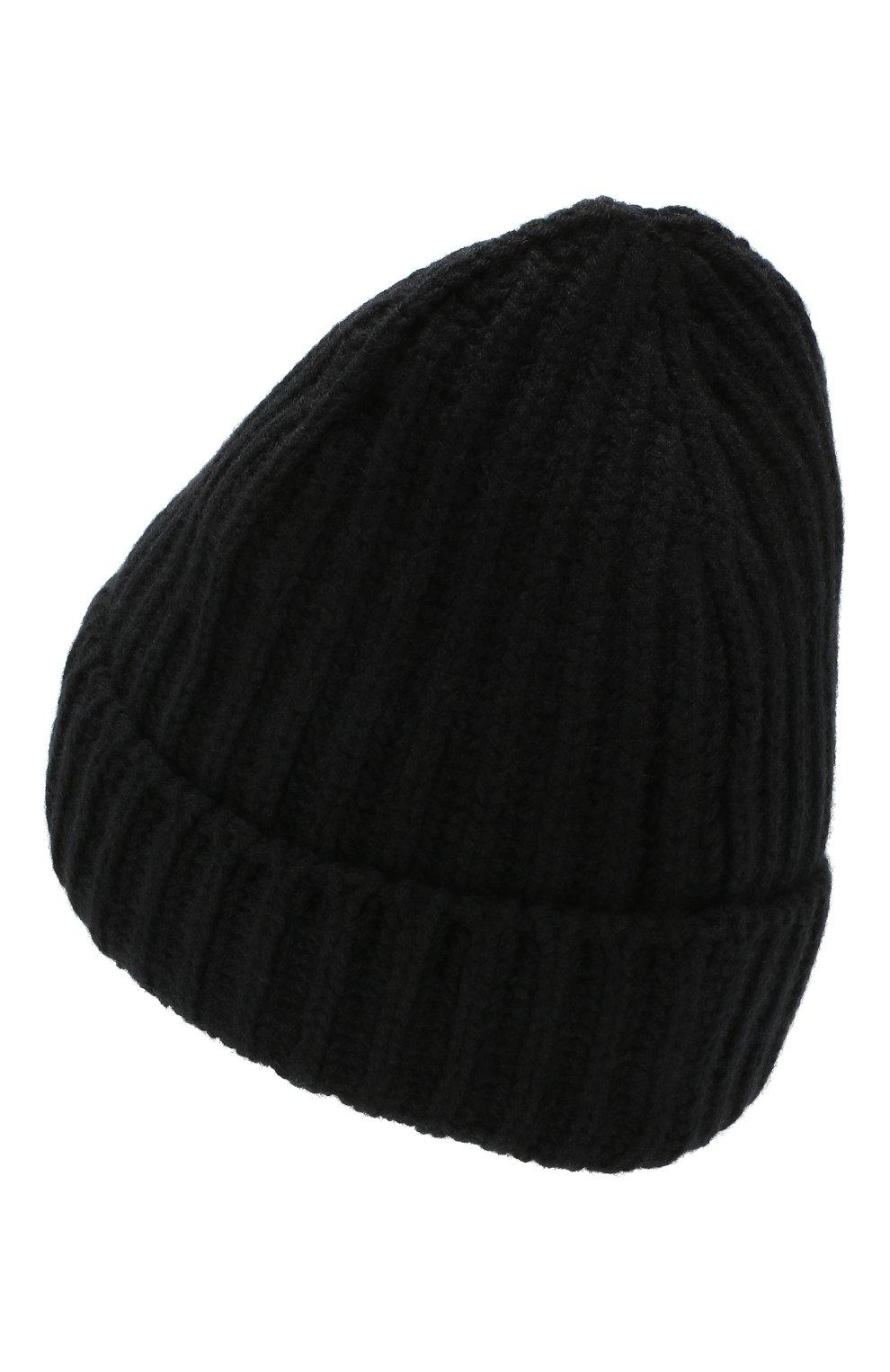 Мужская кашемировая шапка GRAN SASSO черного цвета, арт. 10162/15552 | Фото 2