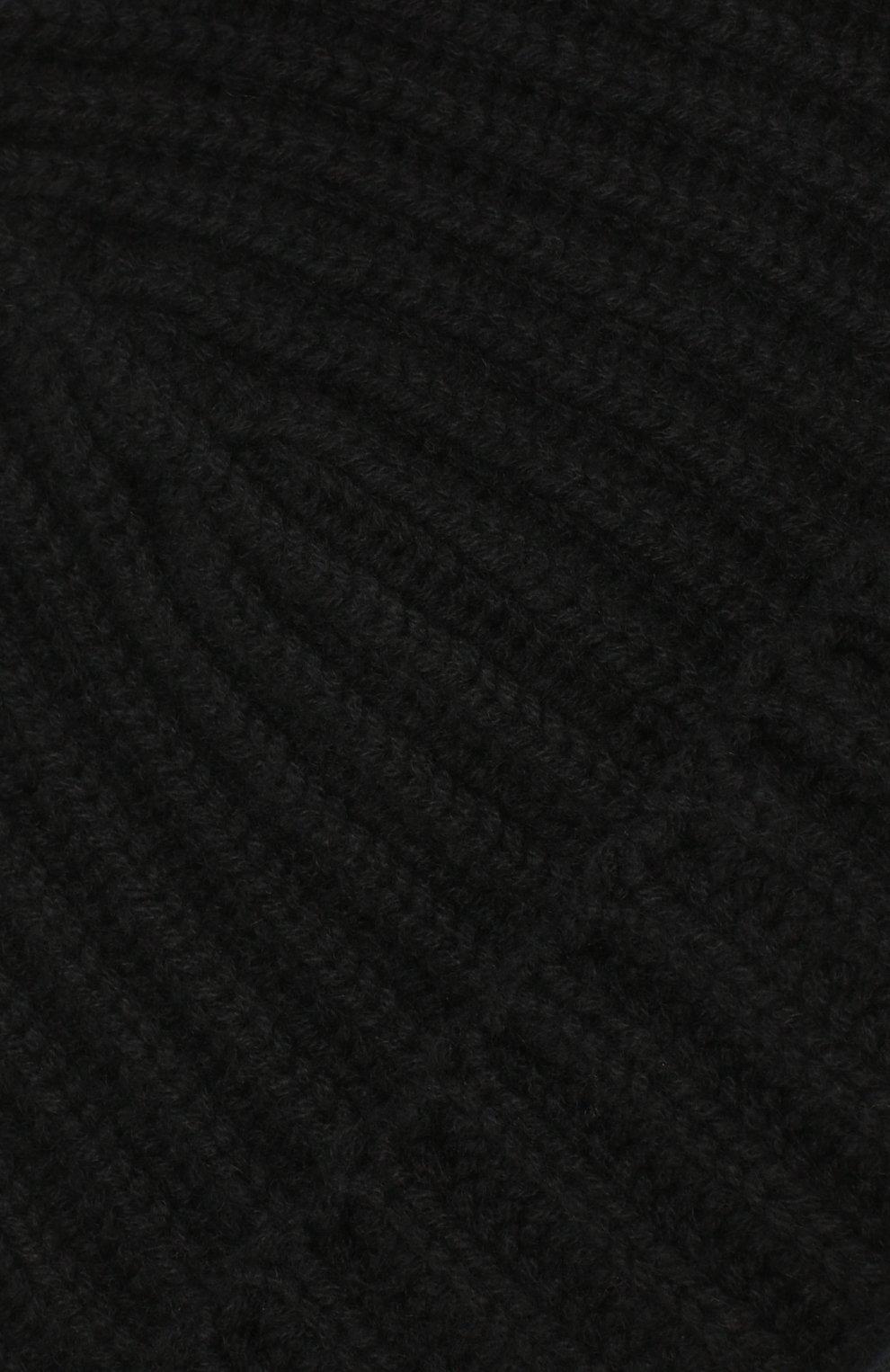 Мужская кашемировая шапка GRAN SASSO черного цвета, арт. 10162/15552 | Фото 3