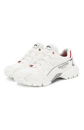 Мужские комбинированные кроссовки valentino garavani climbers VALENTINO белого цвета, арт. SY2S0C20/LJP | Фото 1
