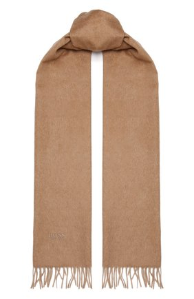 Мужской кашемировый шарф BOSS бежевого цвета, арт. 50415017 | Фото 1