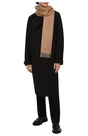 Мужской кашемировый шарф BOSS бежевого цвета, арт. 50415017 | Фото 2