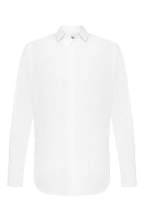 Мужская хлопковая сорочка BERLUTI белого цвета, арт. R15HTL37-002   Фото 1