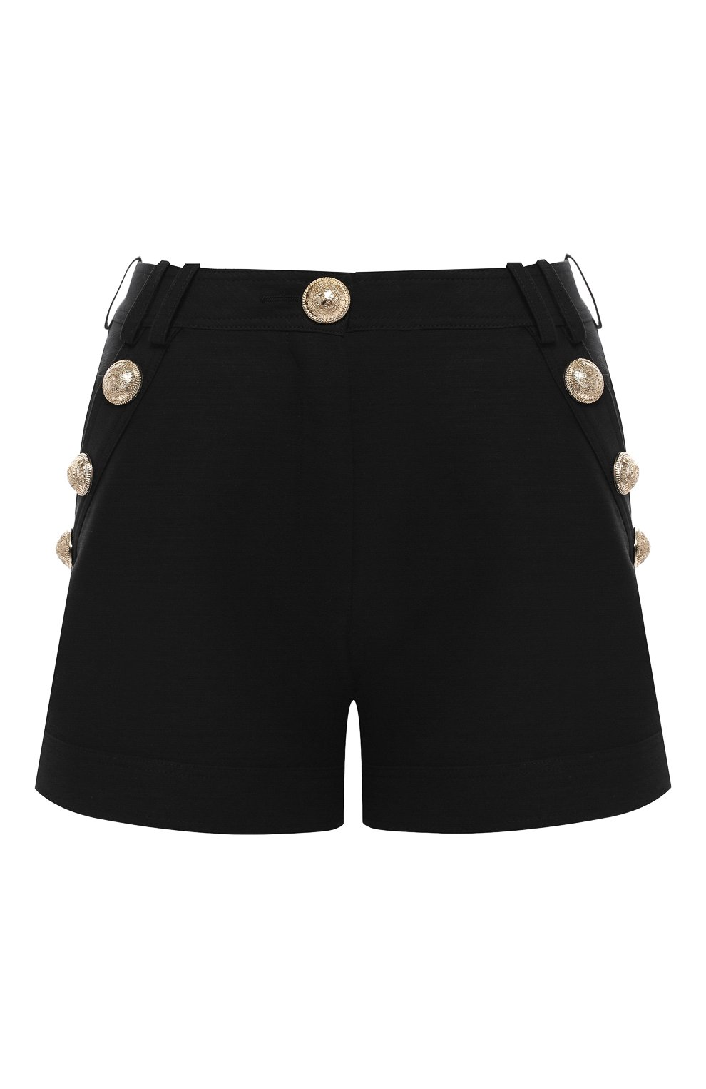Женские хлопковые шорты BALMAIN черного цвета, арт. SF15015/C160 | Фото 1