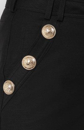 Женские хлопковые шорты BALMAIN черного цвета, арт. SF15015/C160 | Фото 5