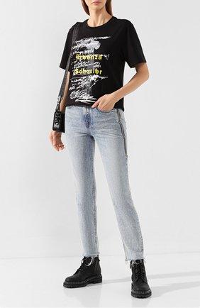 Женская хлопковая футболка PROENZA SCHOULER черно-белого цвета, арт. WL1934098-JCP110   Фото 2