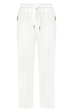 Женские брюки из вискозы DOLCE & GABBANA белого цвета, арт. FTA66T/G7TLG | Фото 1
