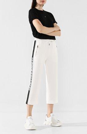 Женские брюки из вискозы DOLCE & GABBANA белого цвета, арт. FTA66T/G7TLG | Фото 2