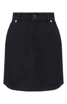 Женская джинсовая юбка VALENTINO темно-синего цвета, арт. SB3DD08K4BD | Фото 1