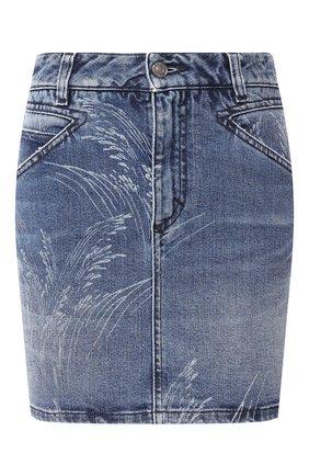 Женская джинсовая юбка GIVENCHY синего цвета, арт. BW40AK50AH | Фото 1