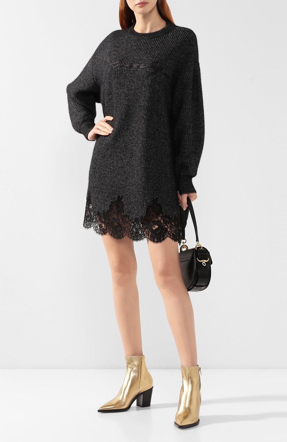 Платье из смеси хлопка и шерсти | Фото №2