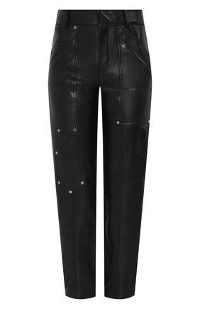 Женские кожаные брюки CHLOÉ черного цвета, арт. CHC19ACP42202 | Фото 1