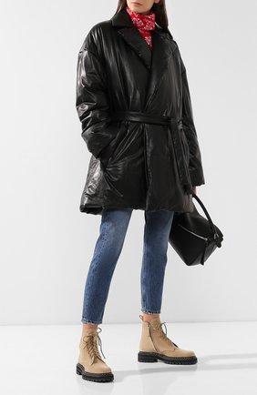 Женское кожаное пальто BALENCIAGA черного цвета, арт. 583549/TFS06 | Фото 2