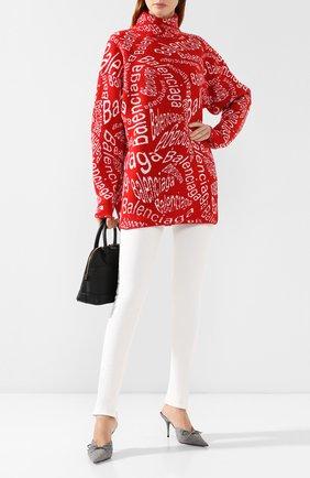 Женская шерстяной свитер BALENCIAGA красного цвета, арт. 583101/T1537 | Фото 2