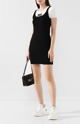 Женское платье ALEXANDERWANG.T черно-белого цвета, арт. 4KC2196013 | Фото 2