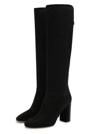 Женские замшевые сапоги jeanne LORO PIANA темно-серого цвета, арт. FAI2296 | Фото 1